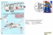 1973 Princess Mary's RAF Nursing Service flown stamp cover BFPO 1485 Vickers VC10refE144