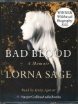 Lorna Sage Biography Bad Blood Memoir on 2 Audio Tapes