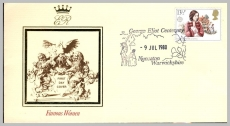 1980 Famous Women George Eliot Nuneaton Warwickshire special handstamp  First Day CoverrefF2