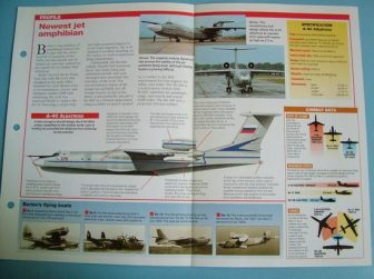 Modern Combat Aircraft of the World Card 126 Beriev A 40 Albatross amphibian