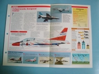 Modern Combat Aircraft of the World Card 129 Kawasaki T 4 Jet Trainer