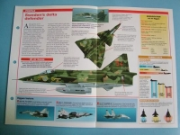 Modern Combat Aircraft of the World Card 134 SAAB AJSFSH VIGGEN
