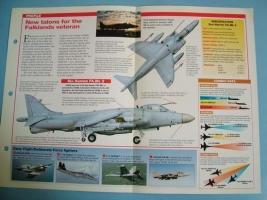 Modern Combat Aircraft of the World Card 63 British Aerospace Sea Harrier FAMk2