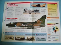 Modern Combat Aircraft of the World Card 78 Vought A 7 Corsair II Export