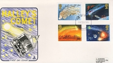 1986-02-18 Halleys Comet Stamps FDC Mercury First Day Cover refCD281