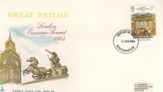 1984-06-05 London Economic Summit  Stamps FDC Mercury First Day Cover refCD283
