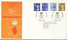 1981 Northern Ireland BELFAST Definitive Stamps First Day Cover refcd408