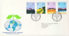 1983-03-09 Commonwealth Day Stamps FDC 99p cover refcd443