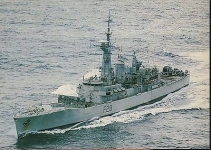 P330 HMS Cleopatra F28 Leander Class POSTCARD Ariadne Commissions 1999 Plymouth