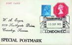 1973 Visit of GOLDENHINDE II London EC Tower Bridge Special Postmark postcard refP6-10