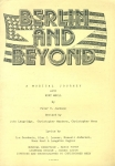 Berlin and Beyond Folded Paper Theatre Programme undated CREDIT Bridget Brown Costumes & by Royal Theatre Wardrobe refb101026