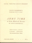 Programme GHQ Theatre Group Jack Barber's Musical ARMY TIME ref213