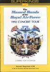 Programme Massed Bands of Royal Air Force 1992 Concert Tour r223