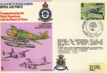 1976 Jersey Post Office No320 Dutch Squadron Royal Air Force flown cover rcd49