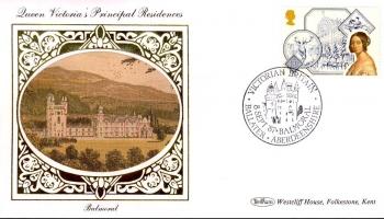 1987 BALMORAL Queen Victorias Residences Benham sm silk ref73