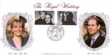 1999 LTD EDITION LFDC no.178 Royal Wedding Bradbury Souvenir Cover Prince Edward Sandringham 15.06.99 Alternative Postmark