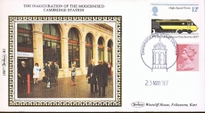 1987 R2 Benham Small Silk Cover Cambridge Station Opening A429