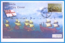 2001 Jacobean Navy Grenada stamp Mercury numbered First Day Cover refB15
