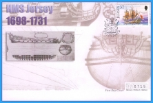 2001 HMS Jersey stamp Mercury numbered First Day Cover refB19
