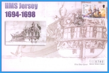 2001 HMS Jersey stamp Mercury numbered First Day Cover refB20