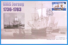 2001 HMS Jersey stamp Mercury numbered First Day Cover refB21