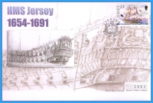 2001 HMS Jersey stamp Mercury numbered First Day Cover refB22