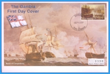 2001 Battle of Camperdown Banjul The Gambia Mercury First Day Cover refB44