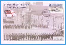2001 British Virgin Islands HMS Wisteria Mercury First Day Cover refB51
