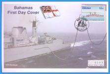 2001 Bahamas HMS Battleaxe Mercury First Day Cover refB54