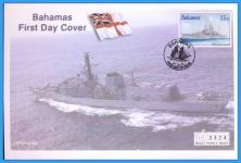 2001 Bahamas HMS Norfolk Mercury First Day Cover refB58