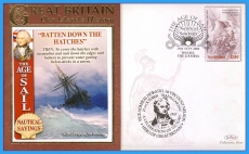 2008 Our Islands History BENHAM cover Batten Down The Hatches Banjul Gambia refb6