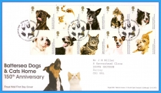 2010-03-11 Battersea Dogs and Cats Stamps FDC ref106