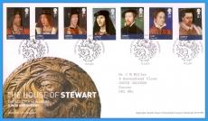 2010-03-23 Scottish Monarchs Stewart Stamps FDC refc107