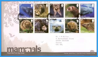 2010-04-13 Mammals Stamps FDC Action for Species 4 refc109