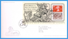 2010-05-06 King George V Accession Stamps M/S FDC refc110