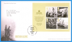 2010-05-13 Britain Alone Dunkirk Stamps M/S FDC refc111