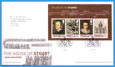 2010-06-15 Age of the Stuarts M/S Stamps FDC refc116