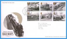 2010-08-19 Great British Railways Stamps FDC LMS GWR LNER refc117