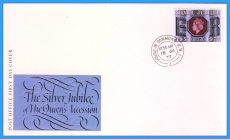 1977 Silver Jubilee Stamp Cover House of Commons CDS rcd21