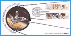 1982 Information Technology Stamps JODRELL BANK FDC Benham Silk BLS6 rcd51