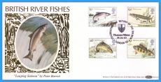 1983 British River Fishes Stamps Benham FDC Thames Water BLS(2)1 rcd105