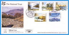 1981 National Trust Stamps FDC OFFICIAL COVER Derwentwater BOCS(2)4 rcd123
