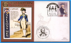 2008 Our Islands History cover CAPTAIN Nelsons Men Banjul GAMBIA rc155