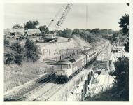 Black & White Railway Train Photo refEM1316 SHARMAN (details on reverse)