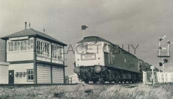 Black & White Railway Train Photo refEM1260 SHARMAN (details on reverse)