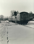 Black & White Railway Train Photo refEM1266 SHARMAN (details on reverse)